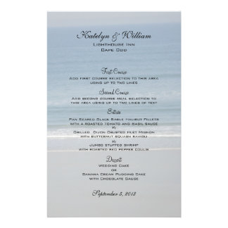 Ocean Love Wedding Menu Cards Flyer Design