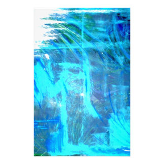 Ocean Lovers Blue abstract popular painting Stationery Paper