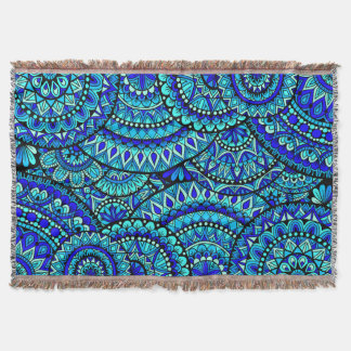 Ocean Mandalas Throw Blanket