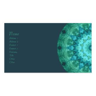 Ocean Medallion Kaleidoscope Business Card Template
