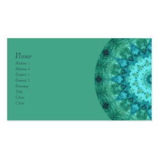 Ocean Medallion Kaleidoscope Business Card
