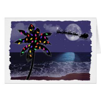 Ocean Moonlight Christmas Holiday Greeting Card