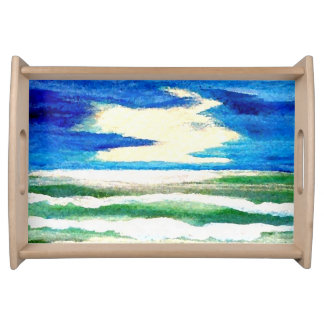 Ocean of My Dreams Beach Seascape Breakfast Tray 2