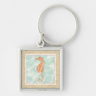 Ocean Orange Seahorse Key Ring