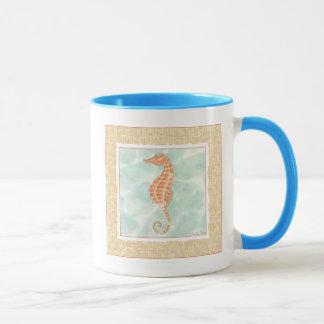 Ocean Orange Seahorse Mug