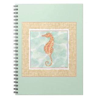 Ocean Orange Seahorse Note Book