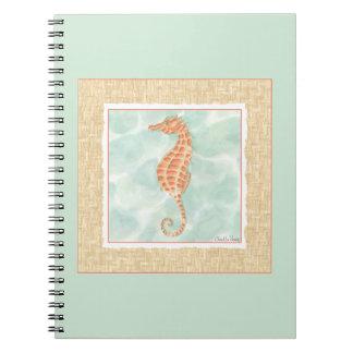 Ocean Orange Seahorse Notebook