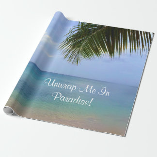 Ocean Palm |Wrapping Paper| Unwrap Me In Paradise Wrapping Paper