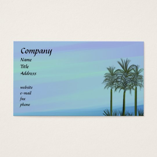 Ocean Palms Business Card