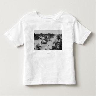 Ocean Park, WA - View of Beach, Old Cars Toddler T-Shirt
