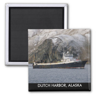 Ocean Peace, Factory Trawler in Dutch Harbor, AK Square Magnet
