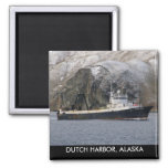 Ocean Peace, Factory Trawler in Dutch Harbour, AK Square Magnet