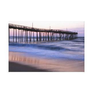 Ocean Pier at Dawn, Outer Banks, North Carolina Canvas Print