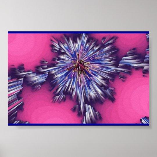 Ocean Pink Eruption Poster