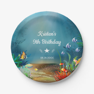 Ocean Reef Under the Sea Birthday Party Paper Plate