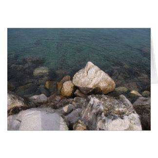 Ocean Rocks in Jamaica Card