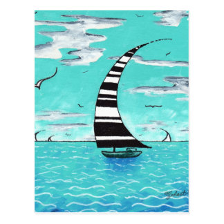Ocean Sailboat Postcard