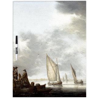 Ocean Sailboat Sailing Ships Boats Dry Erase Board