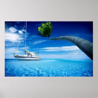 Ocean SailBoatPoster Poster