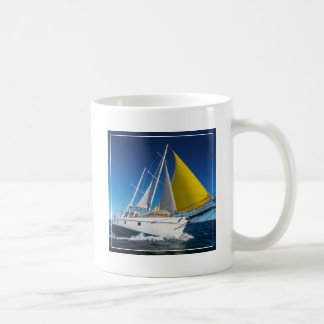 Ocean Sailing In A Yacht Coffee Mug