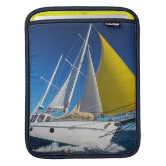 Ocean Sailing In A Yacht iPad Sleeve