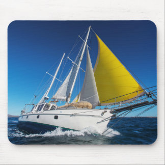 Ocean Sailing In A Yacht Mouse Pad