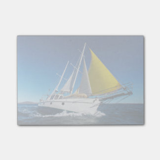Ocean Sailing In A Yacht Post-it Notes