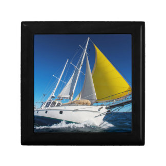 Ocean Sailing In A Yacht Small Square Gift Box