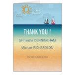 Ocean Sand Beach Theme Wedding Thank You Cards