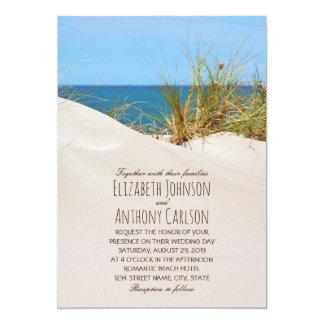 Ocean Sand Creative Beach Themed Wedding 13 Cm X 18 Cm Invitation Card