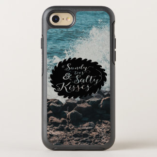 Ocean: Sandy toes; Salty Kisses Quote OtterBox Symmetry iPhone 7 Case