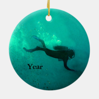 Ocean Scuba Diver Christmas Ornament