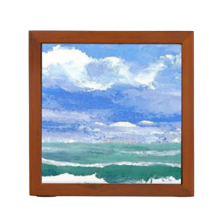Ocean Sea Art Pencil Office Desk Gift 2 Desk Organiser