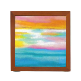 Ocean Sea Art Pencil Office Desk Gift 3 Desk Organiser