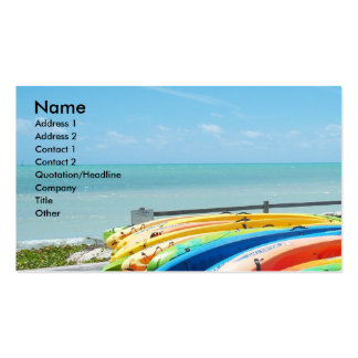 Ocean Sea Beach Key West Florida Business Card Art