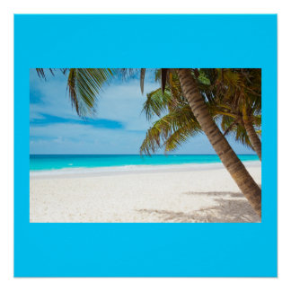 Ocean Sea Beach Palm Sand Nature Name Personalize