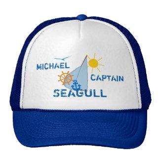 Ocean Sea Boating Sail dark customizable Cap
