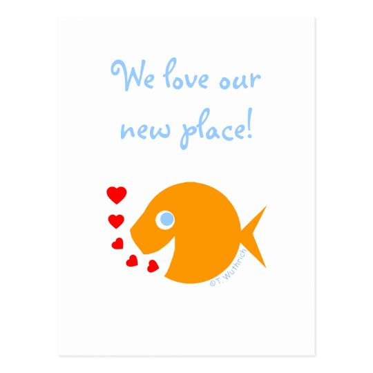 Ocean Sea Lake Water-Themed Humourous We Moved Postcard