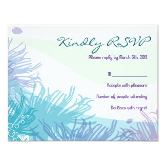 Ocean Sea Life Bat Mitzvah Invitation Reply Card