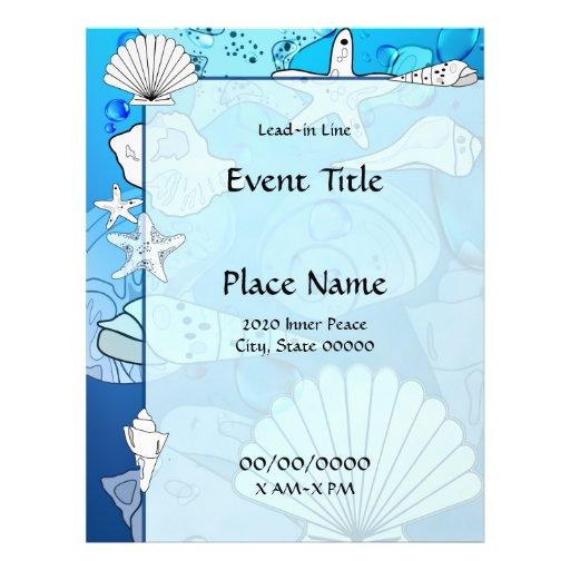 Ocean Sea Shells Event Flyer