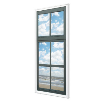 Ocean/ Sea Waves Fake Window View Canvas Print