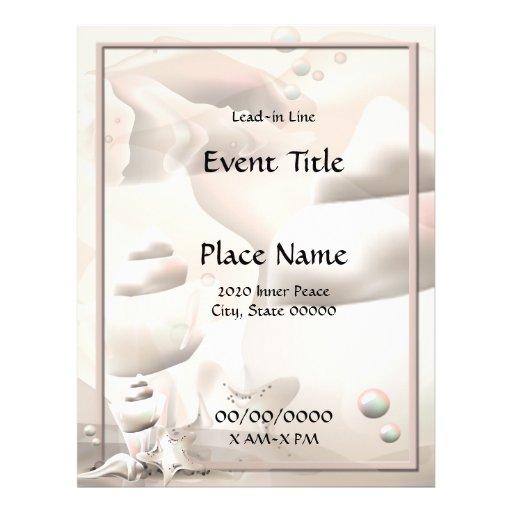 Ocean Seashells Event Flyer