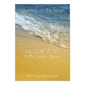 Ocean, Seashore View Beach Shoreline Sandy 13 Cm X 18 Cm Invitation Card