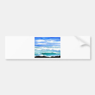 Ocean Serenity Sea Waves Oceanscape Decor Gifts Bumper Sticker