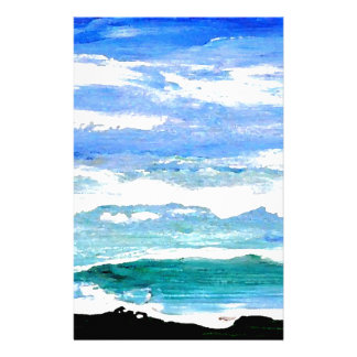 Ocean Serenity Sea Waves Oceanscape Decor Gifts Custom Stationery