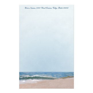 Ocean Shore Beach Personal Stationery