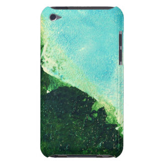 Ocean shoreline peeling paint on canvas barely there iPod covers