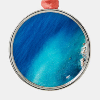 Ocean Silver-Colored Round Decoration