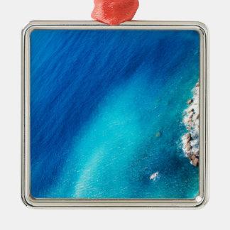 Ocean Silver-Colored Square Decoration