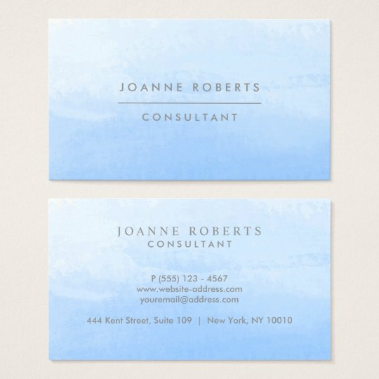 Ocean Sky Blue Ombre Beauty or Professional Business Card